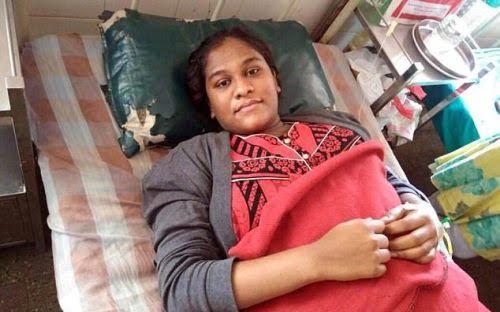 Mẹ Nandini, nặng 94 kg và cao 1m75, mang thai em bé rất nhẹ nhàng. Ảnh: Telegraph
