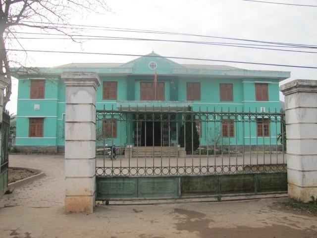 Trạm Y tế xã Mỹ Lộc, nơi xảy ra sự việc y sĩ bỏ trực giữa lúc bé trai 2 tuổi cần cấp cứu