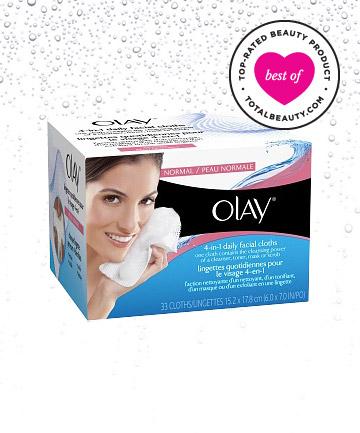 Olay 4-in-1 Daily Facial Cloths giúp tẩy tế bào chết, se khít lỗ chân lông và dưỡng chất giúp sáng da, cân bằng độ ẩm