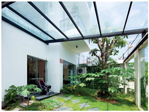 Thiết kế vườn sau biệt thự của Hồ Ngọc Hà