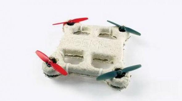 Bản mẫu của chiếc máy bay do thám mini chế tạo từ vật liệu sinh học có khả năng tự hủy