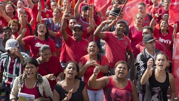 World Cup 2014 hỗn loạn do biểu tình