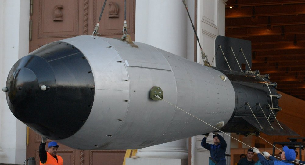 Phiên bản mô hình kích thước thật của bom hạt nhân Tsar Bomba