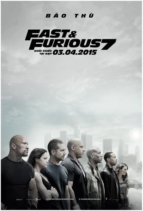 'Fast and Furious 7' là phim bom tấn 2015 đáng chờ đợi nhất tháng 4 này