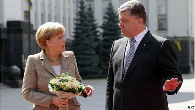 Thủ tướng đức tới thăm Ukraine