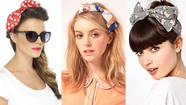 Cũng với kiểu tóc búi cao kết hợp với một chiếc khăn sẽ khiến cho các nàng trở nên đáng yêu và nữ tính hơn