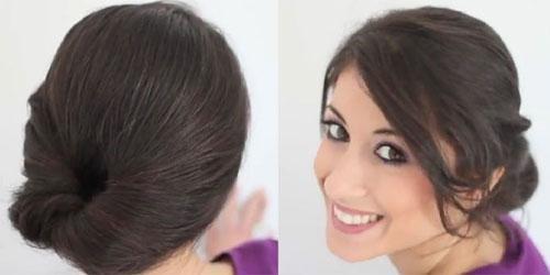 Chị em sẽ tỏa sáng rực rỡ trong ngày Tết với các kiểu tóc đẹp đơn giản, dễ làm như tóc búi cuộn tròn