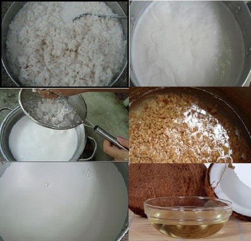 Các bước trong cách làm dầu dừa nguyên chất