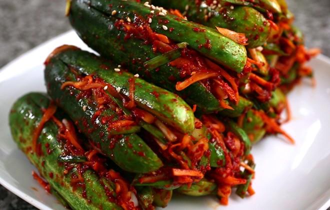 Kim chi dưa leo là món ăn rất thích hợp trong ngày nóng