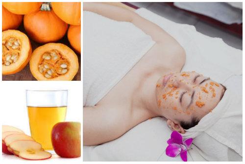 Các làm trắng da từ mặt nạ bí ngô, dấm táo sẽ giúp chị em có được làn da hoàn hảo và trắng đẹp tự nhiên