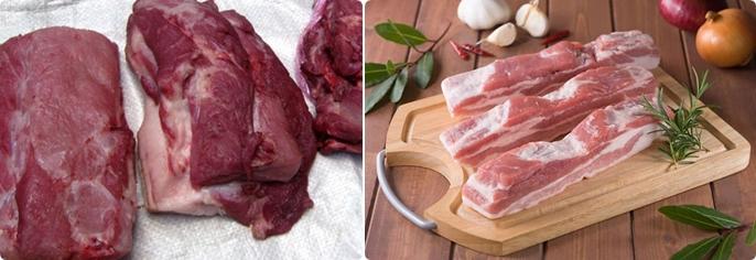 Cách phân biệt thịt heo có chất tạo nạc và thịt heo sạch