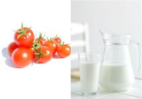 Sử dụng cà chua và sữa tươi là cách làm trắng da nhanh chóng