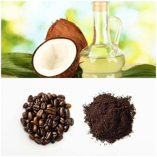Cà phê và dầu dừa là hỗn hợp làm trắng da toàn thân tự nhiên rất hiệu quả