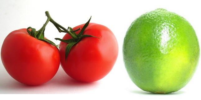 Kết hợp chanh và cà chua là cách làm trắng da từ thiên nhiên rất hiệu quả