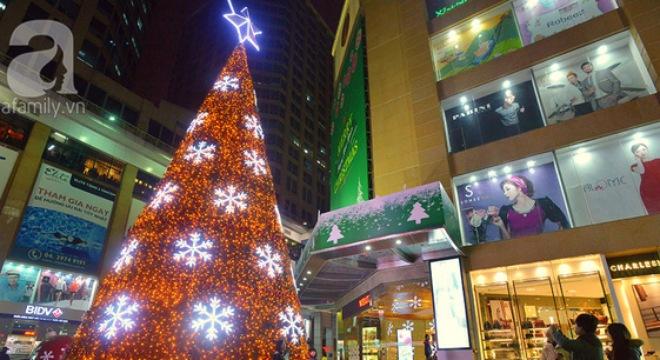Được đặt ở vị trí trang trọng giữa quảng trường của khu đô thị Royal City (Thanh Xuân, Hà Nội) cây thông noel có kích thước 'khủng' với chiều cao 32,5m, nặng gần 5 tấn, được trang trí bởi hơn 100.000 bóng đèn led đủ màu sắc luôn là tâm điểm thu hút sự chú ý của người dân mỗi khi tới thăm khu đô thị này.