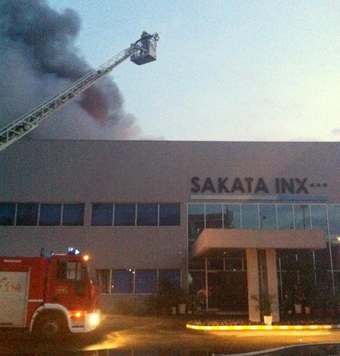 Cháy khu công nghiệp