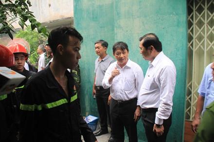 Lãnh đạo TP Đà Nẵng đã có mặt tại hiện trường vụ cháy nhà để trực tiếp chỉ đạo cứu người