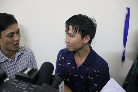 Anh Hoàng Văn Biên (29 tuổi, quê Hà Tĩnh) nạn nhân được cứu sống  trong vụ tàu Hoàng Phúc 18 chìm trên sông Soài Rạp