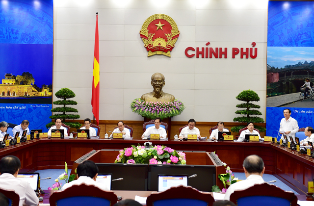 Chính phủ họp phiên thường kỳ tháng 8/2015.