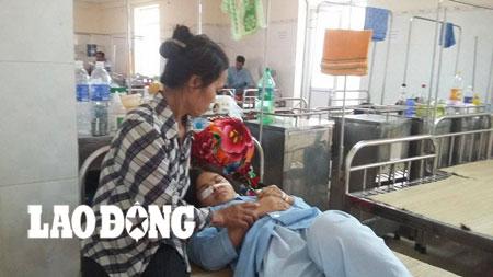 Chị K.T.Th đang được điều trị tại bệnh viện