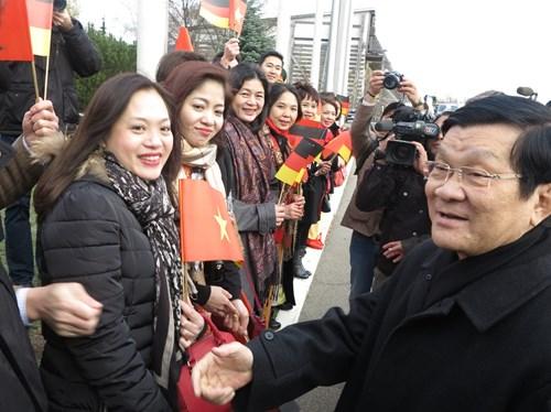 Chủ tịch nước Trương Tấn Sang thăm Đức