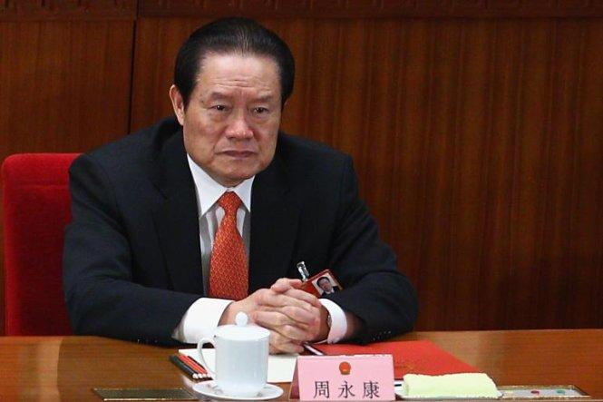 Ông Chu Vĩnh Khang là quan chức cao cấp nhất bị điều tra trong chiến dịch chống tham nhũng Trung Quốc. Ảnh THX