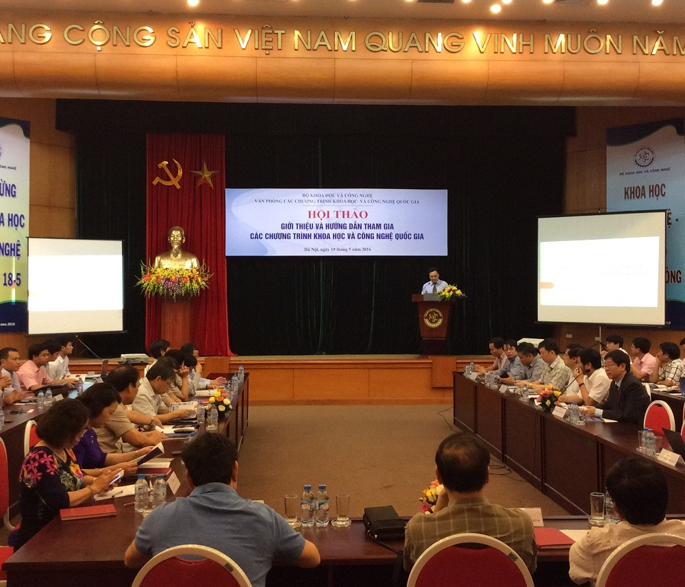 """Bộ Khoa học và Công nghệ (KH&CN) vừa tổ chức hội thảo """"Giới thiệu và hướng dẫn tham gia các Chương trình khoa học và công nghệ quốc gia""""."""