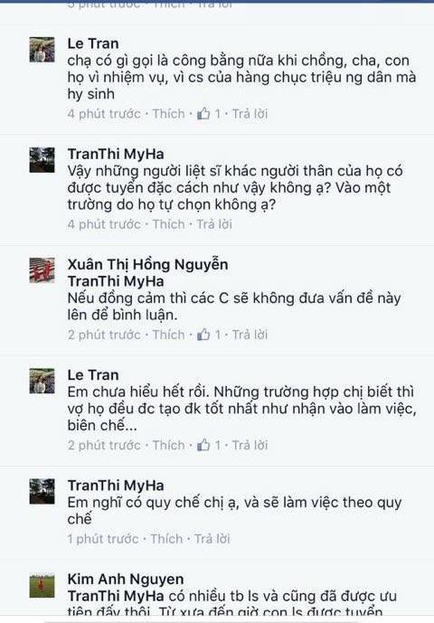 Ý kiến của cô giáo Trần Thị Mỹ Hà khiến nhiều người không đồng tình.