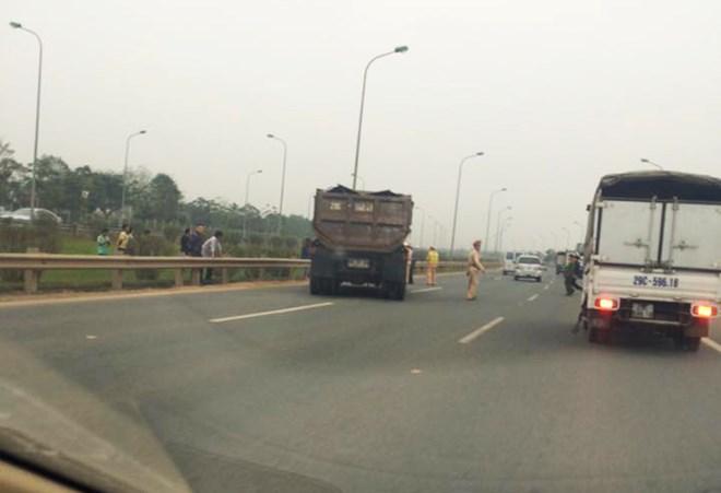 Chiếc xe gây tai nạn khiến 1 chiến sĩ CSGT bị thương nặng