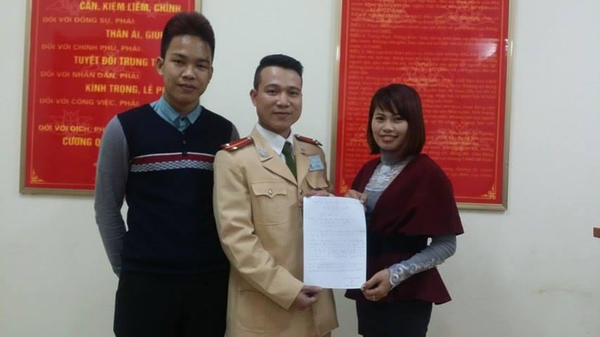 Gia đình anh Thế Anh đến cảm ơn Trung úy Nguyễn Chí Công