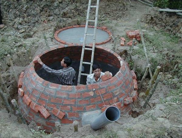 Xây dựng bể phốt (hầm biogas) cần nhiều yếu tố kỹ thuật