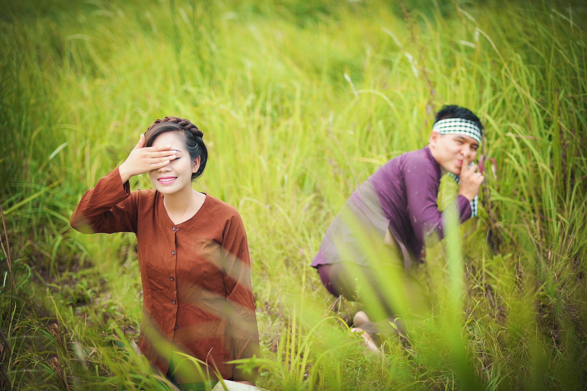 Bộ ảnh cưới độc đáo với phong cách thôn quê