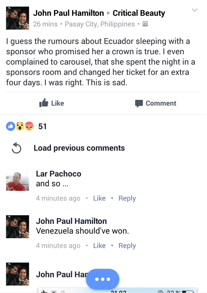 Tân Hoa hậu Trái Đất 2016 bị tố 'thân mật' với nhà tài trợ