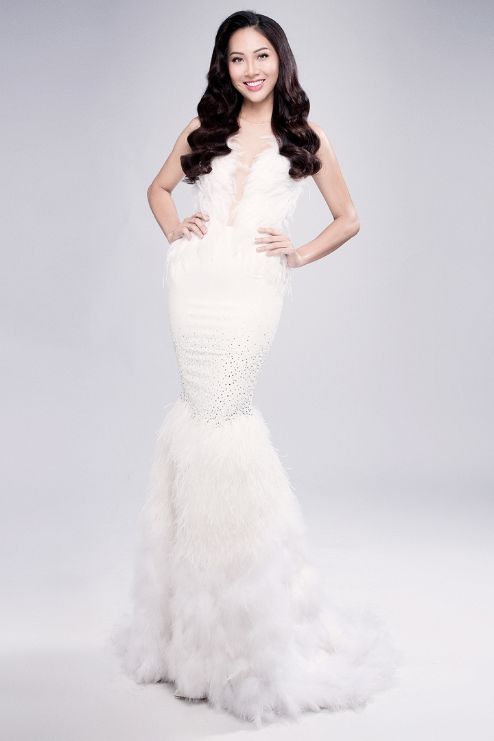 Cận cảnh nhan sắc của Ngọc Diệu tại Hoa hậu Thế giới 2016