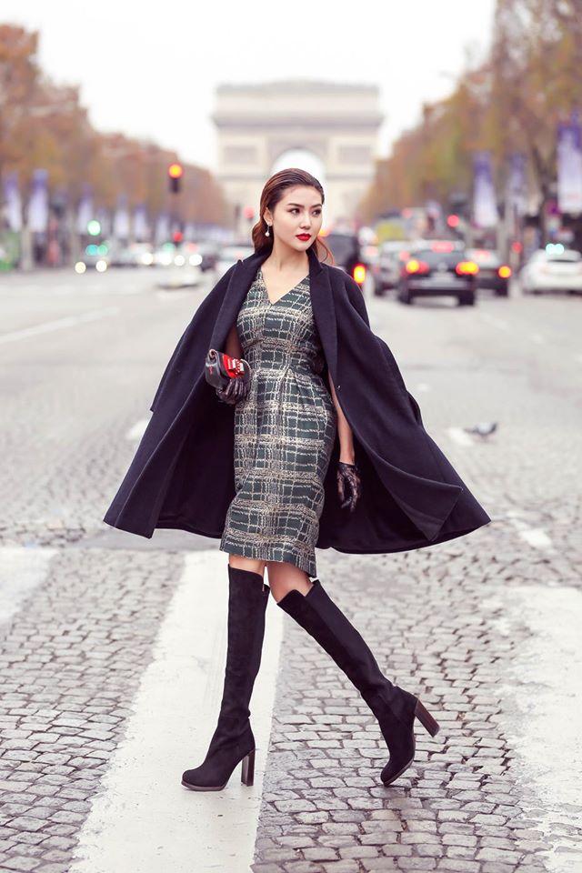 'Nữ hoàng sắc đẹp toàn cầu' Ngọc Duyên gây ấn tượng trên phố Paris