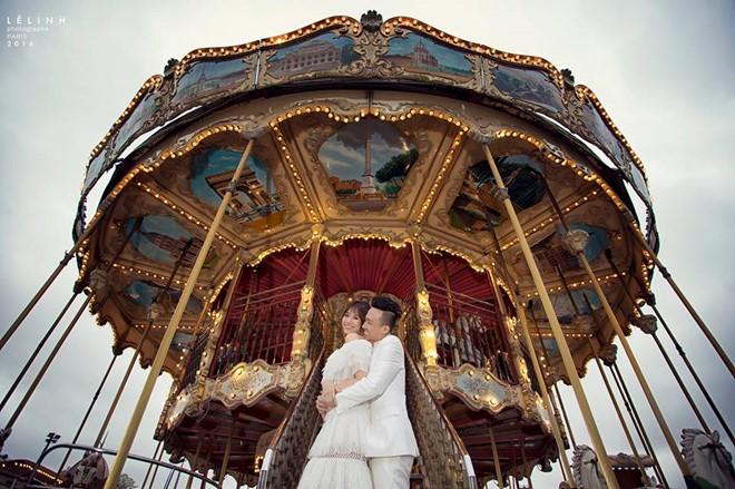 Ảnh cưới lãng mạn của Trấn Thành và Hari Won ở Pháp