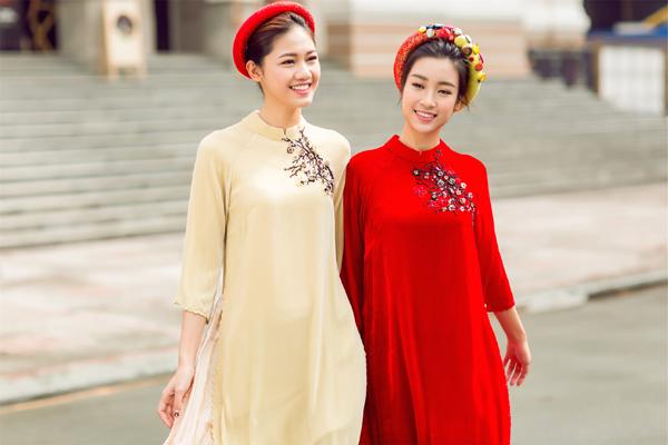Mỹ Linh, Thanh Tú dịu dàng trong bộ ảnh áo dài ngày Tết
