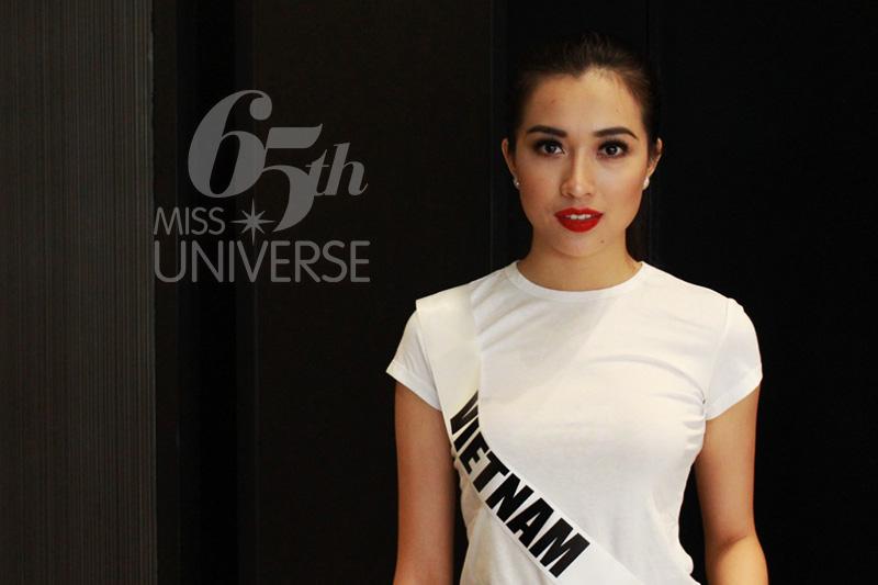 Lệ Hằng thăng hạng, lọt top 14 Hoa hậu Hoàn vũ 2016
