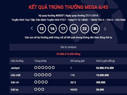 Thêm người Việt trúng xổ số kiểu Mỹ gần 55 tỷ đồng