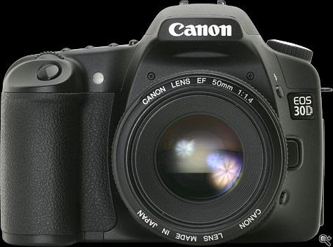 Canon EOS 30D có màn hình lớn hơn, chế độ phơi sáng điểm được nâng cấp