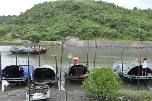 Ngư dân di chuyển vào khu vực khuất gió neo đậu tàu thuyền trú bão.