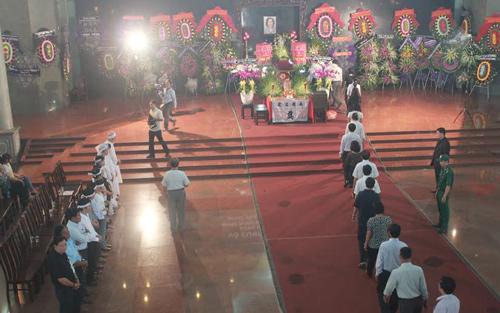 Toàn cảnh lễ viếng bà Võ Thị Thắng sáng nay tại TPHCM.