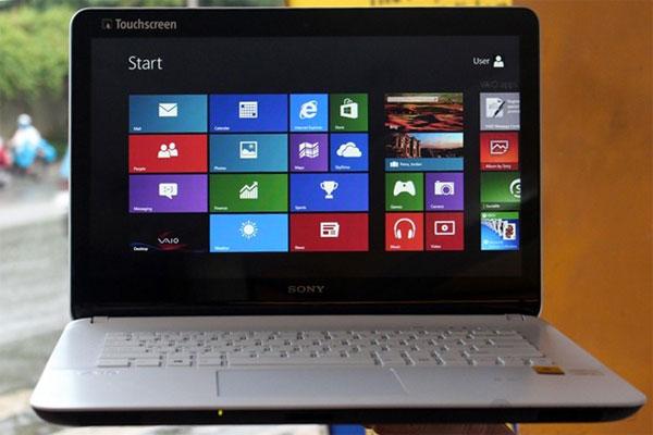 Laptop chơi game giá rẻ dưới 15 triệu Sony Vaio Fit SVF 14217SG có thiết kế đẹp, chất lượng âm thanh tốt