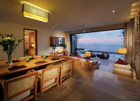 Các phòng đều có tầm nhìn hướng ra đại dương