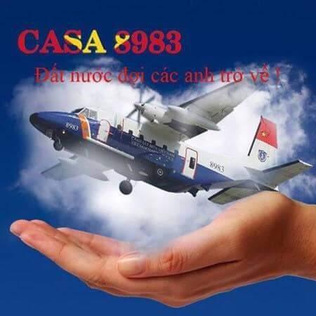 Hình ảnh cầu mong sự bình yên với các chiến sĩ trên CASA 212