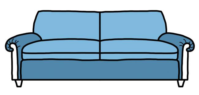 Không giống chiếc tay cuộn kiểu Anh, phần phía sau chiếc đệm của chiếc ghế Lawson thường không cố định. Phần tay cũng không bắt buộc phải cuộn lại. Chiếc ghế này là một lựa chọn hoàn hảo cho việc xem phim và thư giãn tại nhà.