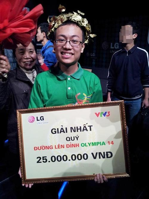 Nguyễn Hoàng Bách nhất Quý III – gương mặt xuất sắc nhất chuẩn bị thi chung kết Olympia 2014