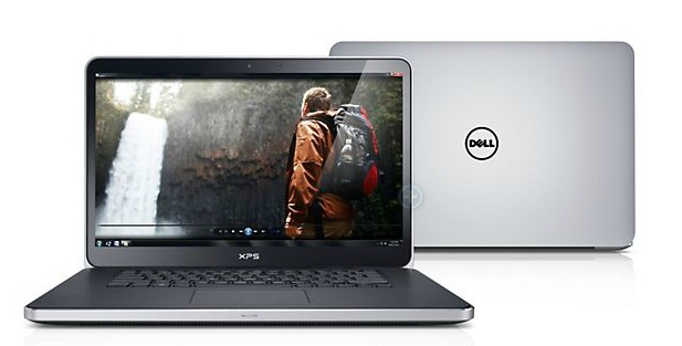 Laptop giá rẻ Dell XPS 15 (2013) có thiết kế rất đẹp với màu nhôm bạc trông rất cao cấp