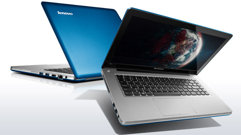 Lenovo U410 có thiết kế sang trọng, gọn nhẹ nên dễ dàng di chuyển