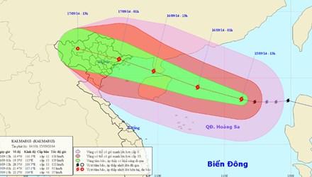 Diễn biến phức tạp của bão số 3/2014.